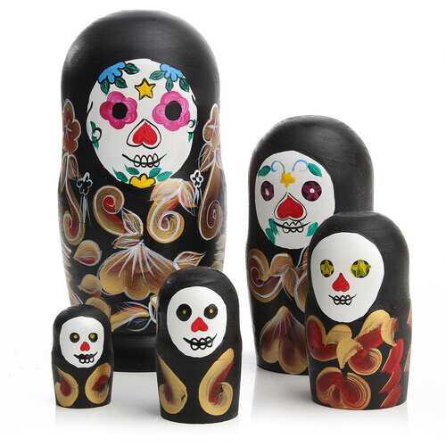 5Pcs Beautiful Russian Dolls