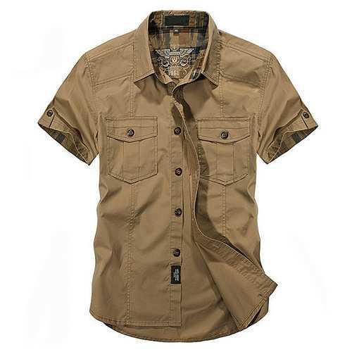 100%Cotton Outdoor Cargo Shirts