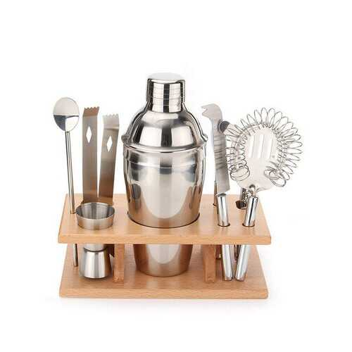 9Pcs DIY Stainless Steel Cocktail Shakers