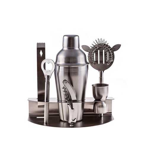 7PCS Stainless Steel Cocktail Shakers Mixer Drink Bartender i Bar Set Tools Kit