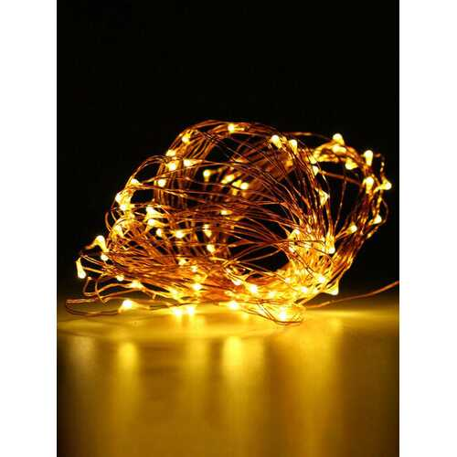 10M 100 LED Copper Wire Fairy String Light Battery Powered Waterproof Party Decor Black Shell