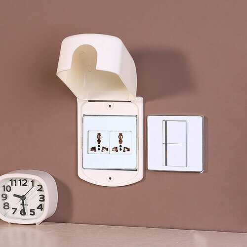 Creative White Switch Protective Jacket Children Electric-shock Preventing Switch Sticker Box