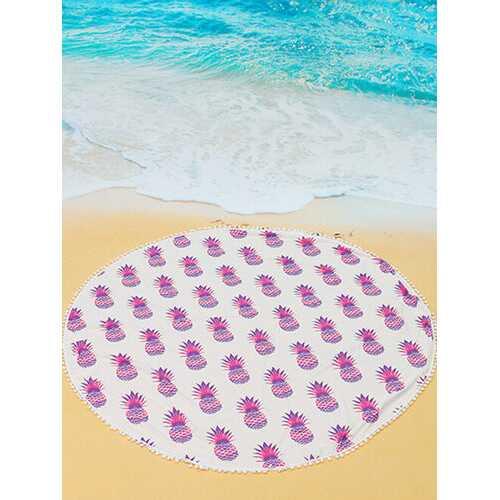 5 Colors Pineapple Printing Beach Yoga Towel Tapestry Tablecloth Tassel Shawl