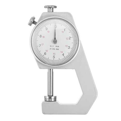 0-20mm Metal Leather Craft Toll Thickness Gauge