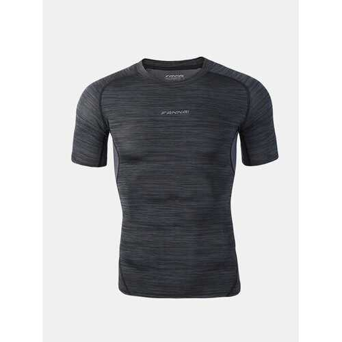 Mens Elastic Quick-drying Fitness Short Sleeve Skinny T-shirts Basketball Jogging Training Tops