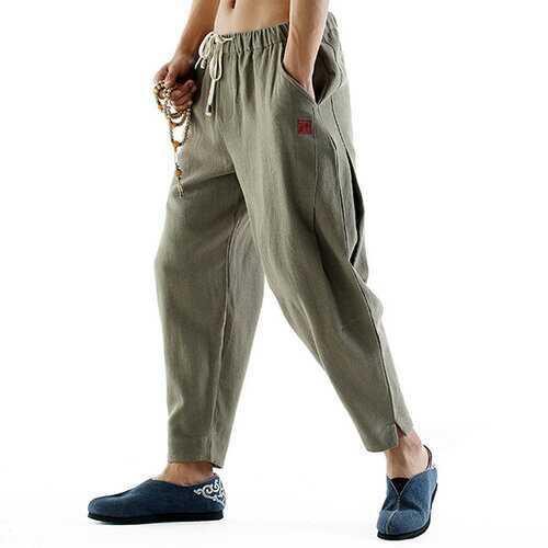 Breathable Cotton Linen Casual Pants