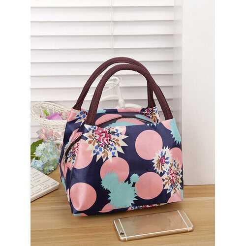 Ladies Handbags Lunch Bag Canvas Tote Bag Oxford Cloth Mommy Bag Printing Small Cloth Bag