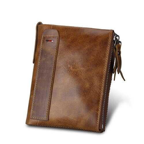 RFID Antimagnetic Genuine Leather Wallet