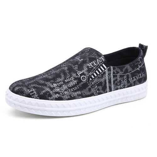 Men Canvas Low-top Breathable Skateboarding Shoes Slip On Casual Trainers