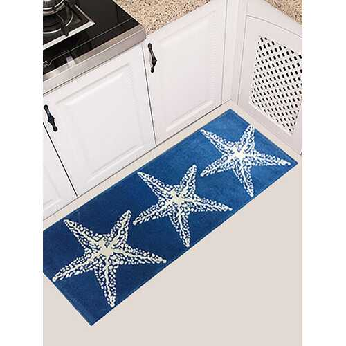 45x115cm Star Printing Anti-slip Soft Flannel Door Mat Kitchen Floor Rug Bathroom Carpet