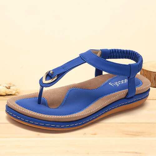 Comfy Elastic Clip Toe Beach Sandals