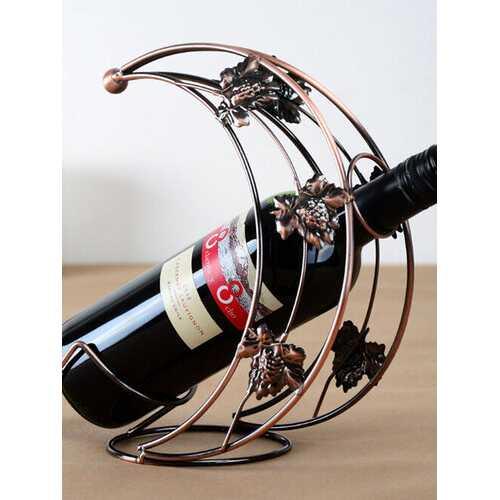 SaicleHome Moon Shaped Iron Wine Racks