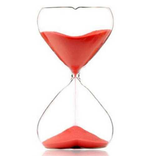 15 Minutes Sandglass Kitchen Timer Heartshape Romantic Hourglass Craft Gift Ornament Home Decor