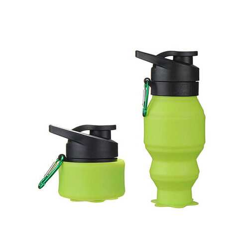 550ml Creative Silicone Collapsible Telescopic Water Kettle Portable Outdoor Travel Water Cup