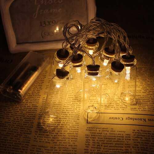 1.2M 10 LED Glass Bottles String Lights