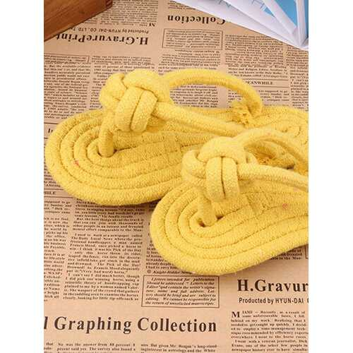 1pcs Pet Toys Cotton Rope Braided Slippers Candy Colorful Dog Cat Toys for Play Interactive Games