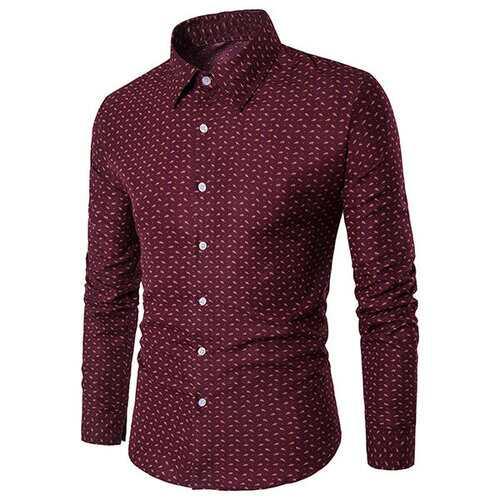 Printing Long Sleeve Plus Size Shirt