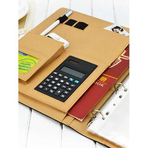 A4 Imitation Leather Folder With A Calculator