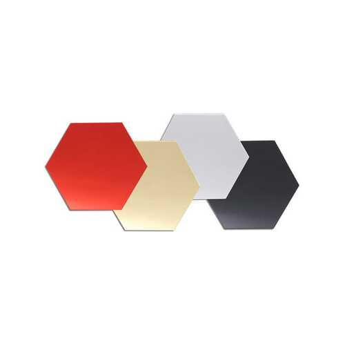 12Pcs 3D Mirror Hexagon Vinyl Removable Wall Sticker