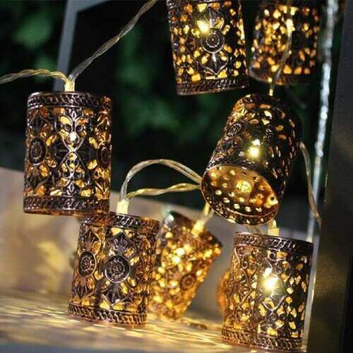 1.1M LED Retro Lantern String Lights