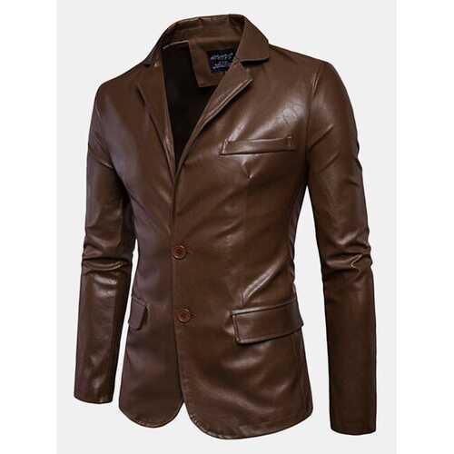 Biker Faux Leather Jacket for Men