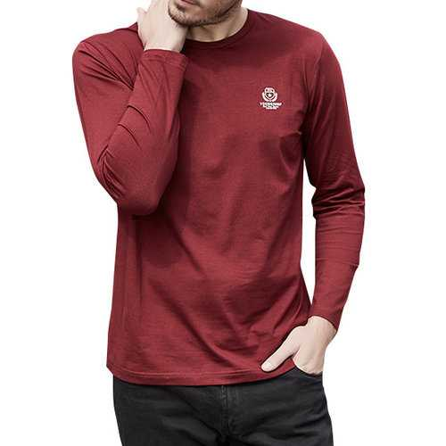 100% Cotton Letters-printed Long Sleeve T-shirt
