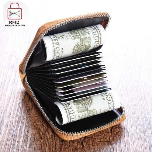 12 Card Slots RFID Wallet