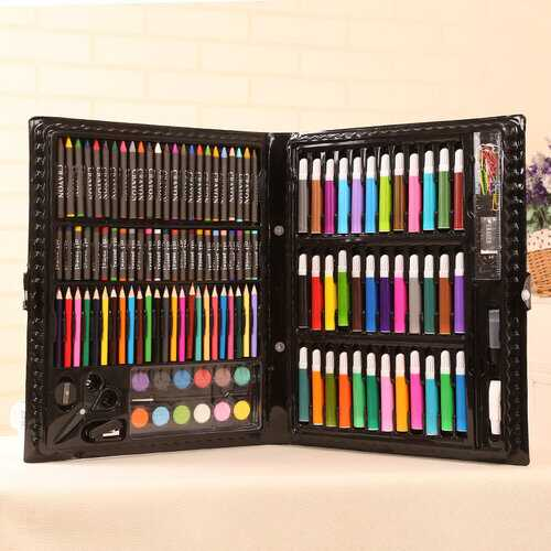 150pcs Children School Color Pencil Art Set