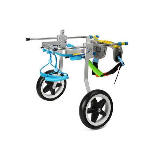 2 Sizes New Adjustable Aluminum Pet Wheelchair