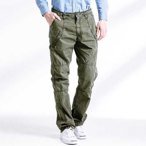 100% Cotton Multi-pocket Casual Cargo Pants