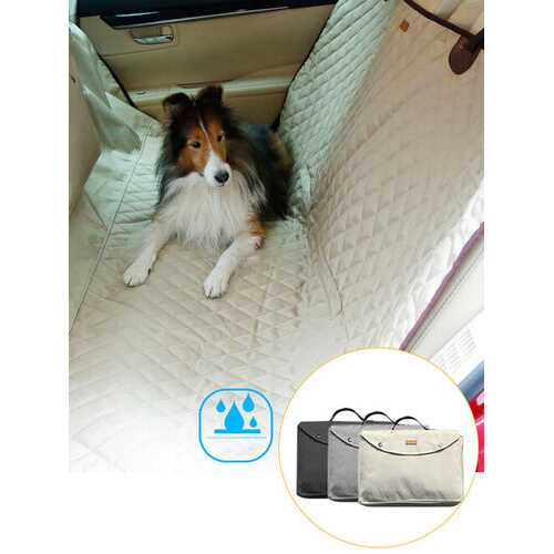 3 Colors Deluxe Waterproof Car Rear Seat Dog Pet Cover