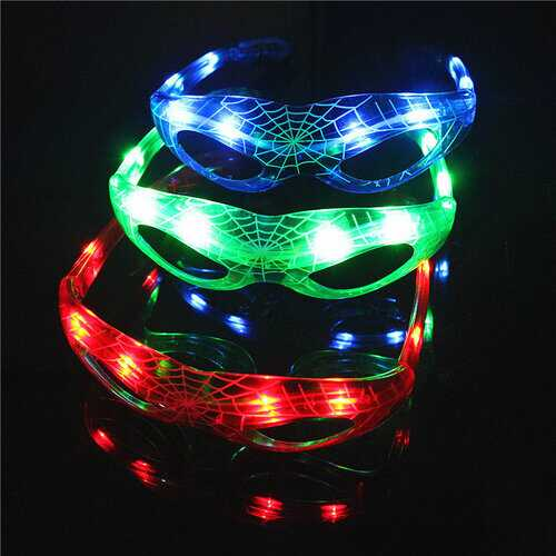 LED Spider Style Flashing LED Glasses