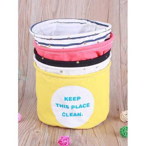 Cotton Linen Letter Storage Basket