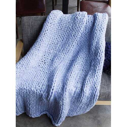 100x150cm Warm Handmande Chunky Knit Blanket
