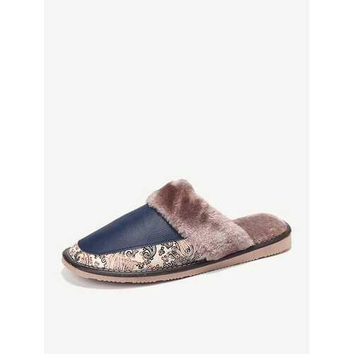 Men Warm Plush Lining Home Shoes