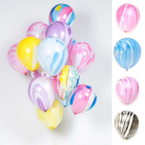 "12"" Marble Color Balloons Agate Assortment Latex Balloons"