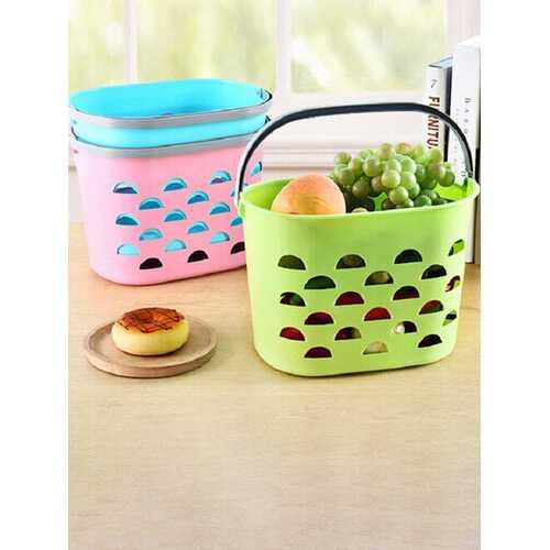 Portable Shopping Tote Basket Table Kitchen Storage Box