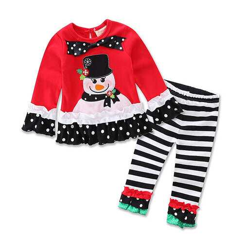 Christmas Girls Clothing Sets For 0-36M