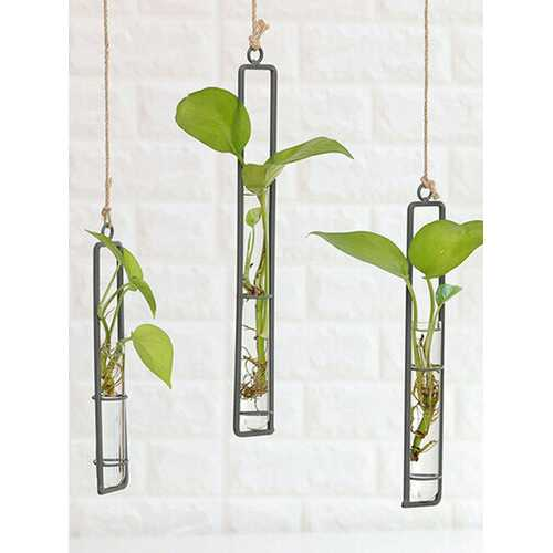 Iron Glass Vase Living Room Wall Decorations