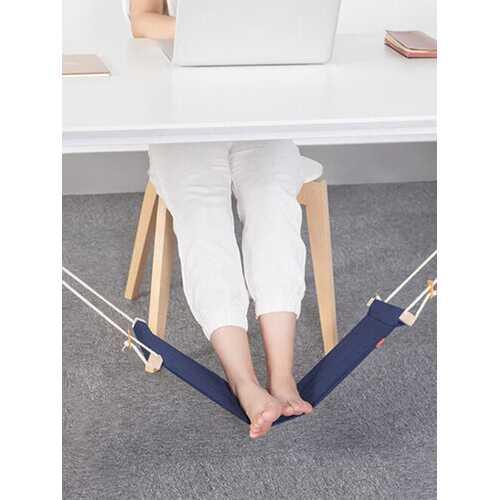 Adjustable Mini Foot Hammock Portable Desk Foot Stool