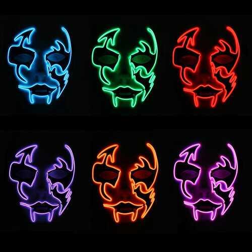 LED Luminous Flashing Face Mask Party Masks