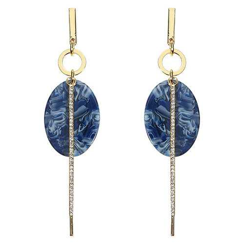 JASSY Oval Cellulose Acetate Bar Earrings