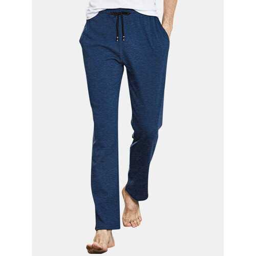 Mens Long Underwear Loose Yoga Pants Sleepwear