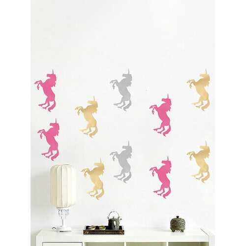 10Pcs Unicorn Wall Stickers
