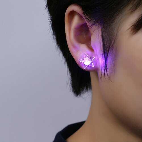 1 Pair Glowing Star Earrings