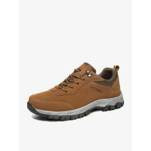 Large Size Men Suede Outdoor Wear Resistant Hiking Shoes