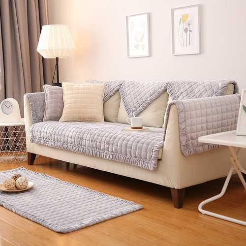 Flannel Decorative Sofa Cover