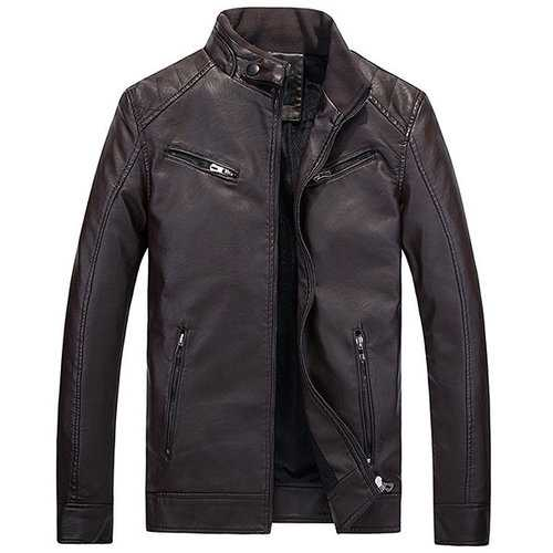 Biker Zipper Design Leather Jacket
