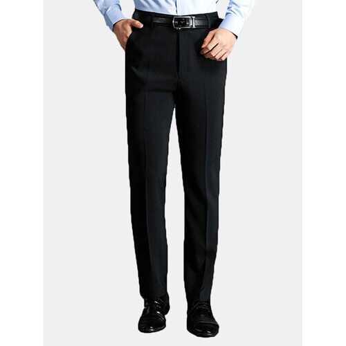 Falt Front Straight Business Suit Pants