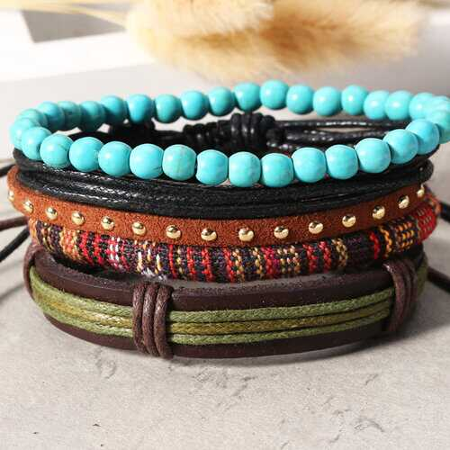 Casual Multilayer Leather Bracelets